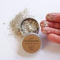 Mini Mineral Mica Flakes - Natural Silver